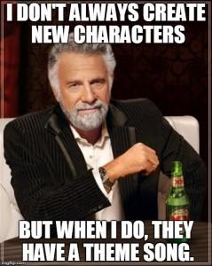 character inspiration songs meme